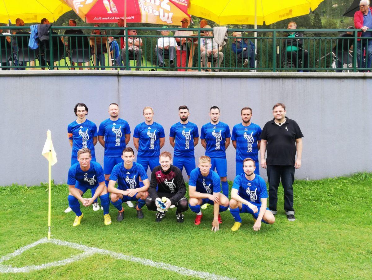 Mannschaftsfoto Lunz in der Partie gegen Wolfsbach